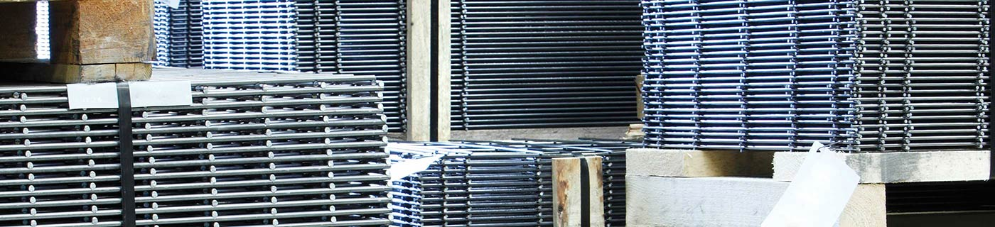 Welded mesh in warehouse